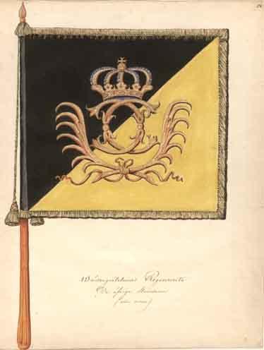 1686 Västgöta Kavalleriregemente. Kompanistandar, chiffersida